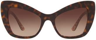 Dolce & Gabbana Havana Cat Eye Sunglasses