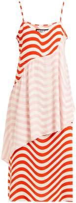 House of Holland Wave-print slip dress