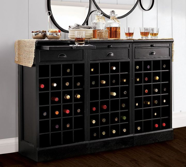 Modular Bar Buffet with 3 Wine Bases