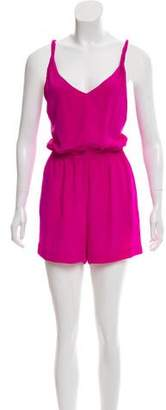 Jay Godfrey Sleeveless Crossover Romper
