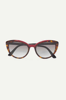 Prada Cat-eye Tortoiseshell Acetate Sunglasses - one size
