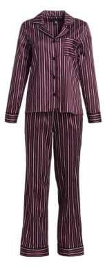 Saks Fifth Avenue COLLECTION Cotton Two-Piece Striped Pajama Set