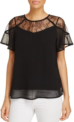 Design History Short-Sleeve Lace Top $88 thestylecure.com