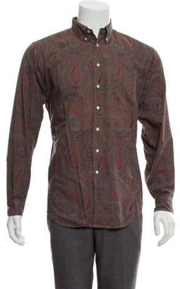 Etro Paisley Button-Up Shirt brown Paisley Button-Up Shirt