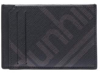 Dunhill Logo Print Textured Leather Cardholder - Mens - Black