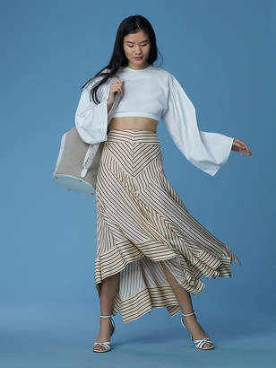 Diane von Furstenberg Midi Square Hem Skirt