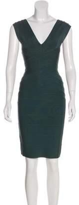 Herve Leger Bandage Mini Dress Green Bandage Mini Dress