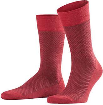 Falke Men's Dotted-Diamond Wool Socks