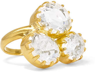 Pippa Small 18-karat Gold Crystal Ring