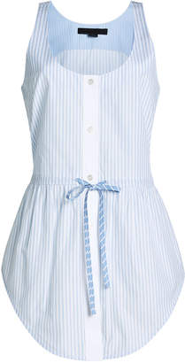 Alexander Wang Cotton Top with Drawstring Tie