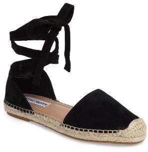 Women's Steve Madden Rosette Ankle Wrap Espadrille Flat $79.95 thestylecure.com
