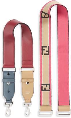 Fendi Set of 2 Strap You Mini Top Handle & Logo Crossbody Strap