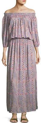 Melissa Odabash Faith Paisley Peasant Dress, One Size