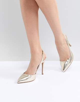 Asos DESIGN Prefect Slingback Pointed Heels