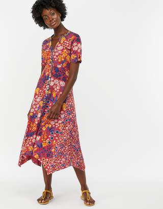 97eb26dc98841 Monsoon Josie Print Hanky Hem Midi Dress