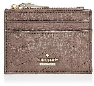 Kate Spade Reese Park Lalena Metallic Leather Card Case