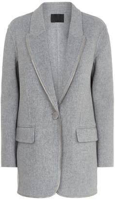 Alexander Wang Zip Trim Wool Coat