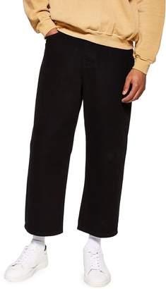 Topman Wide-Leg Cropped Jeans