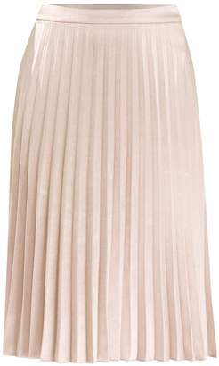PAISIE - Pleated Skirt in Champagne
