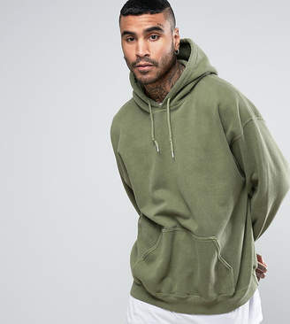Reclaimed Vintage Inspired Oversized Hoodie In Green Overdye
