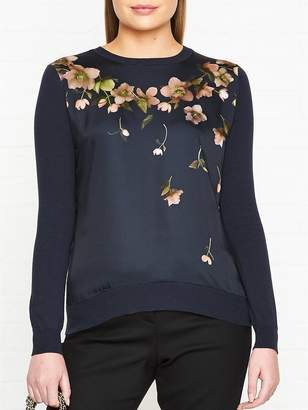 Ted Baker Sowifee Aboretum Woven Front Jumper