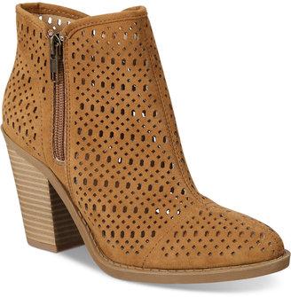 Esprit Kay Block-Heel Perforated Booties $69 thestylecure.com