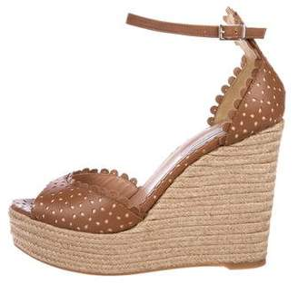 Tabitha Simmons Leather Espadrille Wedges w/ Tags