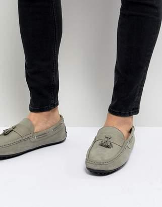 Kurt Geiger London Matthew Nubuck Loafers In Gray