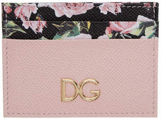 Dolce & Gabbana Pink and Floral Card Holder