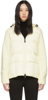 Moncler Off-White Down Panelled Jacket