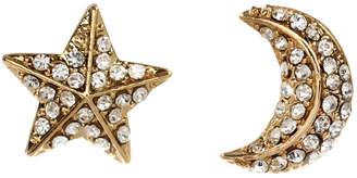 Amrita Singh Star & Moon Crystal Stud Earrings