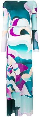 Emilio Pucci psychedelic print long dress