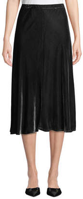 Eileen Fisher Bias-Cut Velvet Midi Skirt, Plus Size