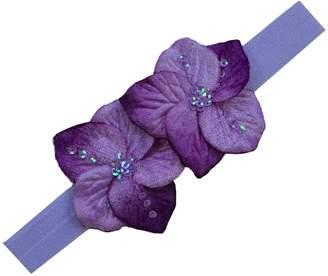 Chloé Funny Girl Designs Velvet Flower Elastic Baby Headband