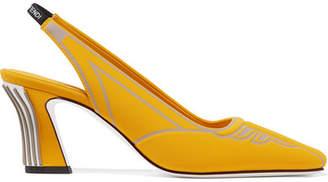 Fendi Ffreedom Logo-print Neoprene Slingback Pumps - Marigold
