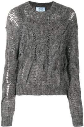 Prada open knit jumper