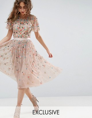 Needle & Thread Needle and Thread Starburst Embellished Midi Dress $489 thestylecure.com