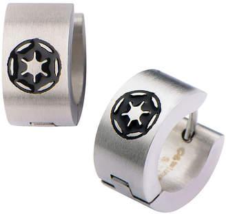 Star Wars FINE JEWELRY Stainless Steel Galactic Empire Cog Logo Hoop Earrings