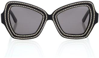 Celine Embellished square sunglasses