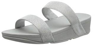240c6fe2d FitFlop Silver Slide Sandals For Women - ShopStyle UK
