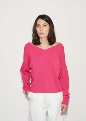 Aalto Wide V-Neck Sweater Fuchsia