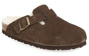 Birkenstock Women's Birkenstock 'Boston' Genuine Shearling Lined Clog