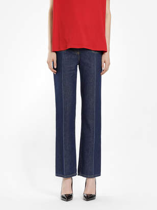 Valentino WOMEN'S BLUE JEANS WITH GOLD V DETAILS