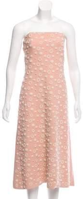 Osman Embellished Strapless Dress