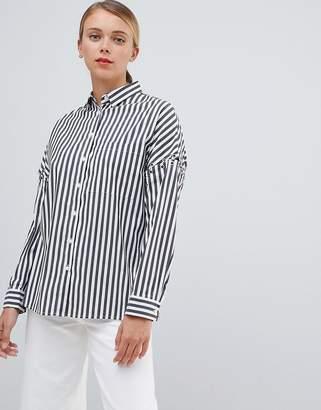 Bershka Striped Shirt With Ring Detail