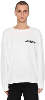 Logo Printed Cotton Jersey Sweatshirt
