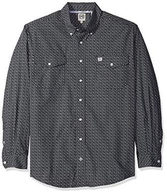 Cinch Men's Classic Fit Long Sleeve Button Two Flap Pocket Print Shirt