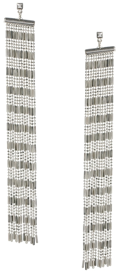 French Connection Chain Fringe Shoulder Duster Earrings