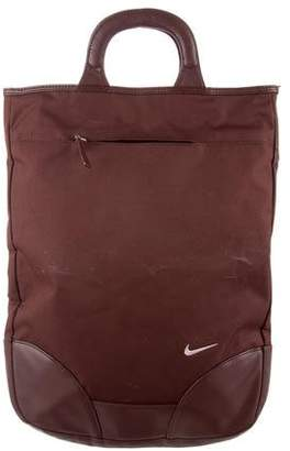 Nike Leather-Trimmed Tote Bag