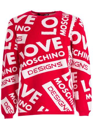 Love Moschino All-over Logo Sweater